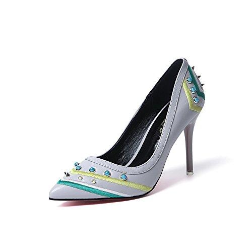 1To9 Sandales Compensées Femme Gris, 37.5 EU, MMSG00022