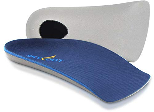 Skyfoot's 3/4 Orthotics Shoe Insoles - Arch Support Correct Over-Pronation, Fallen Arches, Flat Feet Metatarsal Support Insoles (S - W7-8.5 | M5.5-7)