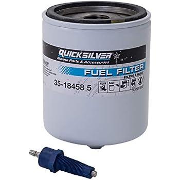Quicksilver 18458Q4 Water Separating Fuel Filter Kit with Blue Water Warning Sensor
