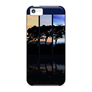 For Iphone 5c Premium Tpu Case Cover Tree Spectrum Protective Case