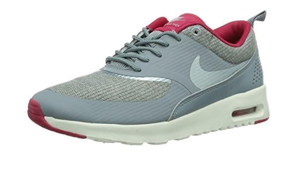 Nike Women's Wmns Air Max Thea Print, SAFARI WOLF GREYANTHRCT RED VIOLET WHITE, 12 M US