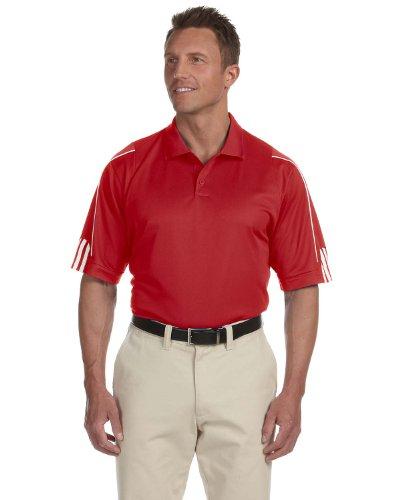 Adidas Men's ClimaLite 3-Stripes Cuff Polo