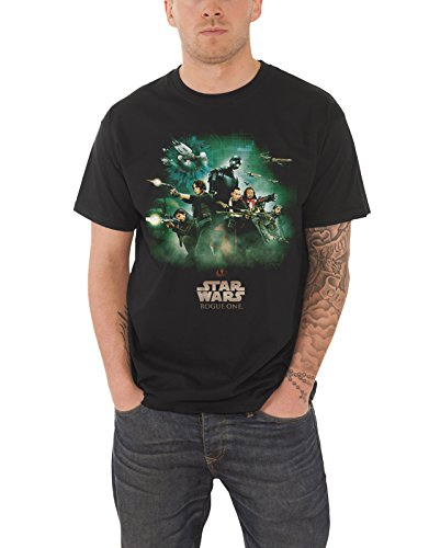 Official Star Poster Wars - Star Wars T Shirt Rogue One Rebels Poster Official Mens Black Size L
