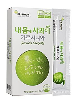 [Dr. MOON] GARCINIA DIET JELLY (20g x 14 packets) – A Healthy Diet, Natural Weight Loss Diet Supplement, Fast Acting Appetite Suppressant, Garcinia Cambogia, Wild Mango, Green Apple Extract
