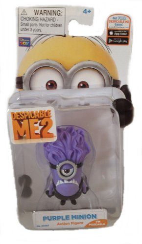 Despicable Me 2 One Eyed Purple Minion 1 Poseable Figure ()
