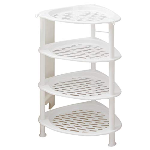 Washbasin Stand - Kitchen Bathroom Shelf Household Storage Rack Multi-Layer Bathroom Triangle Rack Washbasin Stand Wall Corner Storage Shelf Multipurpose Shelf Display Rack (Size : Four Layer)