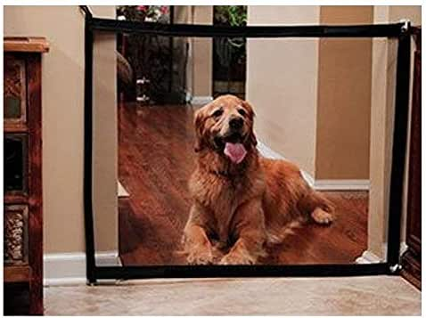 """Dog Baby Stair Magic Gate - 180x72cm Safety Gate Mesh Fence Guard for Dogs Pet Keep Dogs Away from Kitchen/Upstairs/Indoor 