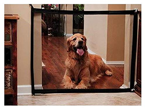 Dog Baby Stair Magic Gate – 180x72cm Safety Gate Mesh Fence Guard for Dogs Pet Keep Dogs Away from Kitchen/Upstairs…