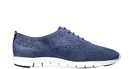 Cole Haan Womens Zerogrand Wingtip Oxford 10.5 Giacca Blu In Pelle Scamosciata