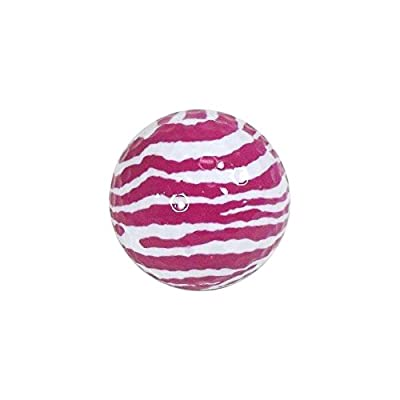 Nitro Novelty Golf Balls Zebra Display Tube (3 Pack), Pink