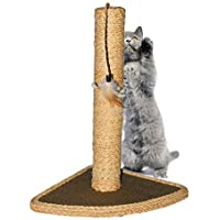 Gluckluz Cat Tree Scratching Post Scratcher Pole Hemp Rope Pet Scratch with Cat Hanging Toy for Satisfing Cat's Natural Scratching Instincts