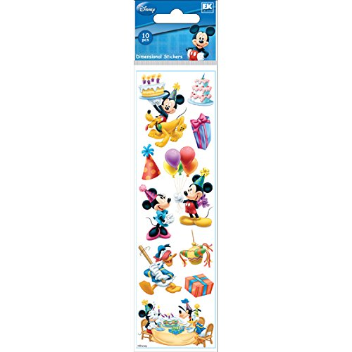 Disney Mickey Mouse Birthday Slims Dimensional Stickers