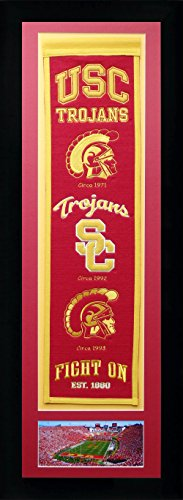 - NCAA Southern California USC Trojans Legends Never Die Team Heritage Banner with Photo, Team Colors, 15