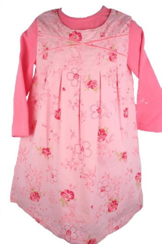 Laura Ashley Baby Girls Flowered Coral Jumper Dress