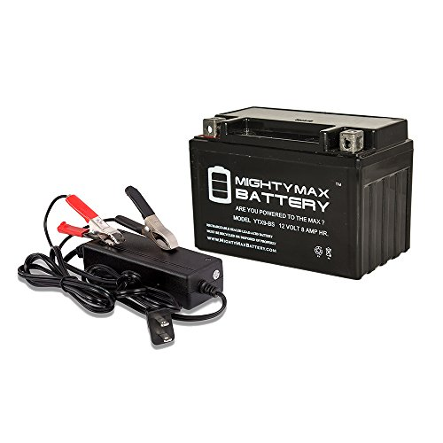 YTX9-BS 12V 8AH Battery for HONDA VT600C CD Shadow + 12V 2Amp Charger - Mighty Max Battery brand product (Vt600c Shadow)