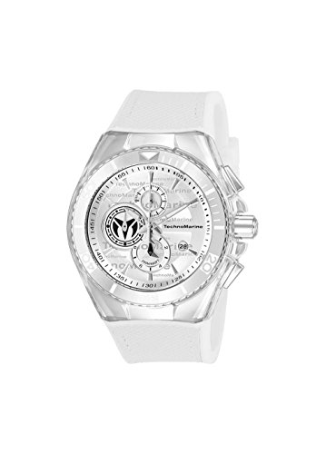 Technomarine Men's 'Cruise' Quartz Stainless Steel and Canvas Casual Watch, Color White (Model: TM-115343)