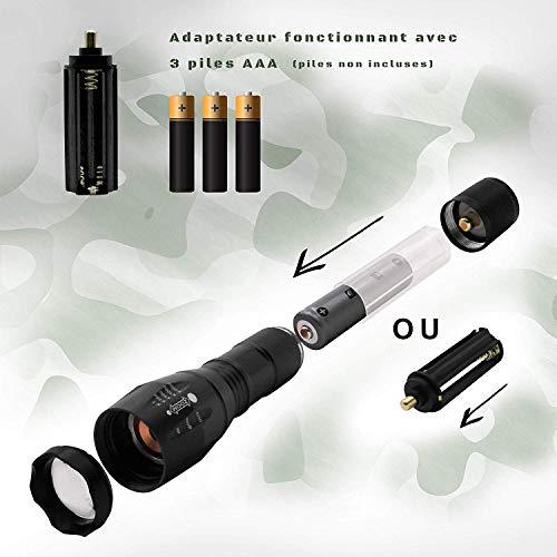 Lampe militaire ultra puissante avec Coffret lampe torche accessoires militaire-Lampe de poche rechargeable et batterie… 4