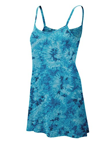 Made By Johnny WDR1061 Womens Tie Dye Spaghetti Strap Tunic Mini Dress M (Tie Dye Camisole Dress)