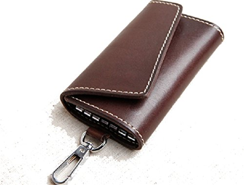 key bag case chain ring Cow Leather Pouch for men women for sale  Delivered anywhere in Canada