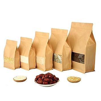 Amazon.com: lavenz 50 pcs gran capacidad stand-up papel ...