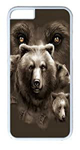 "iPhone 6 Case - Scratch Protection Ultra Slim Fit Hard PolyCarbonate White Plastic Case for Apple iPhone 6 (4.7"") with Pattern: Aurora Wolfpack"