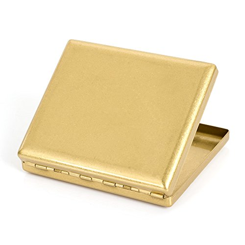 Pure Copper Brass Metal Cigarette Case Holder Box Cardcase Holds 20 cigarettes (Type 2) by KUBOY