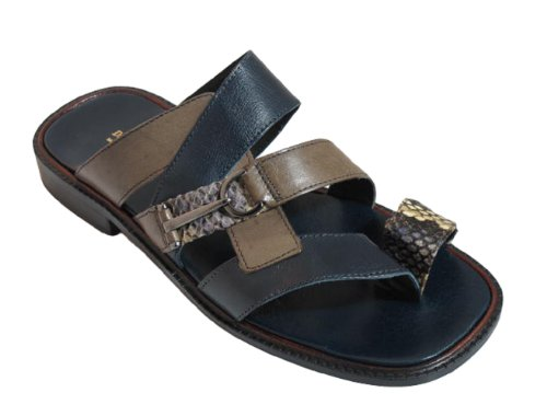 Davinci 2308 Mens Italian Dressy/casual Sandals Blue pvTihn