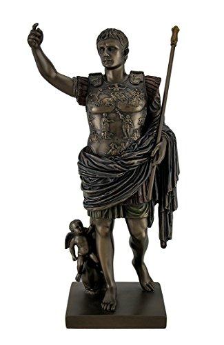 Resin Statues Augustus Of Prima Porta Bronze Finish Augustus Caesar Statue 12 Inch 5.75 X 11.5 X 5 Inches Bronze Model # WU73509A4