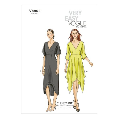 Vogue Patterns V8894 Misses' Dress Sewing Template, Size ZZ (LRG-XLG-XXL)