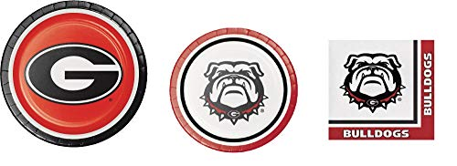 (University of Georgia Small Party Bundle: 8 Dinner Plates, 8 Lunch Plates, and 20 Lunch)