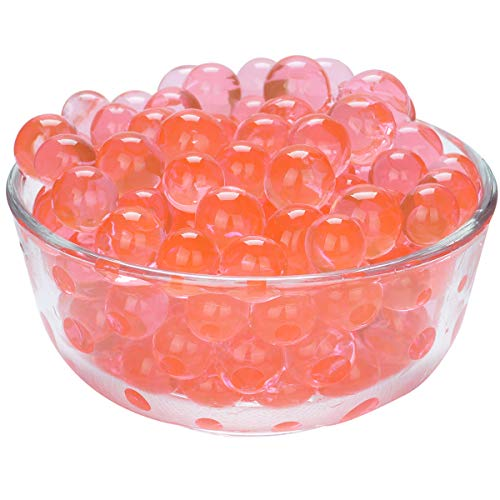 LOVOUS 3000 Pcs Water Beads, Crystal Soil Water Bead Gel, Wedding Decoration Vase Filler - Furniture Decorative Vase Filler, All Occasion Table Centerpiece Decorations (Red)