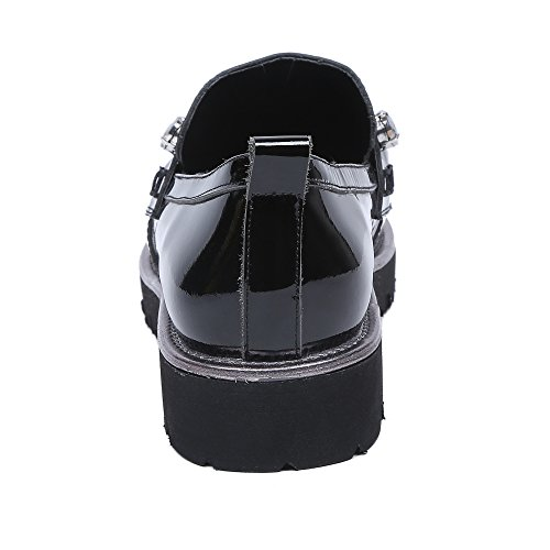 Minivog Kvinners Lave Flat Loafer Sko Svart