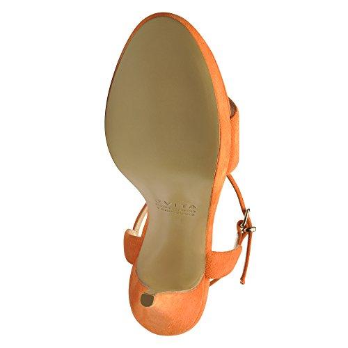 Femme Evita Daim Orange Shoes Valeria Sandales qWgwfWHv