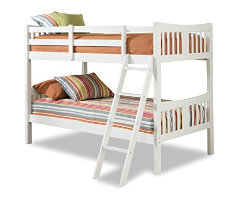 olid Hardwood Twin Bunk Bed, White ()