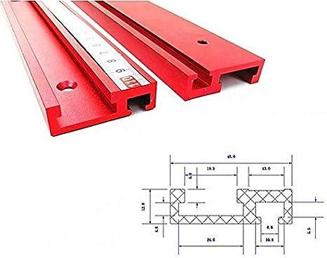 2 St/ück//Set T-Schiene Gleitschienen f/ür Alu-Profil-Holzbearbeitungswerkzeuge
