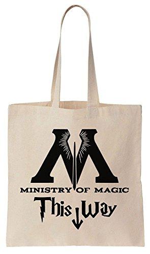 Ministry Of Magic This Way Sacchetto di cotone tela di canapa