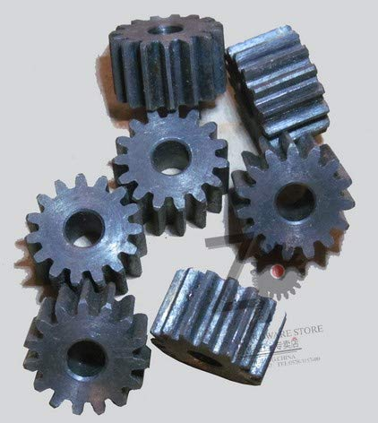 Fevas MOD2 Gear Rack 10-20 Teeth Hardened Thickness 20mm 2 Mode Gear Pinion Cylindrical spur Gear helical Gear Rack Custom - (Number of Teeth: 11 Teeth, Hole Diameter: Rough Hole)