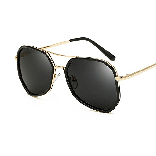 BVAGSS Vintage Polarized Newest Brand Designer Women Or Men Metal Sunglasses WS021 (Black Frame, Black - Newest Sunglasses Women For