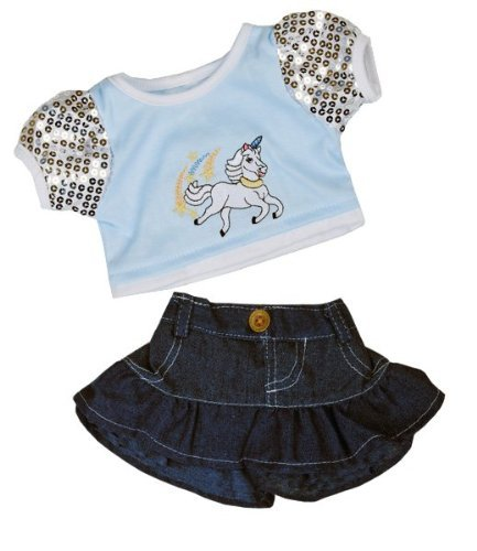 """Unicorn """"Glitter"""" Outfit Teddy Bear Clothes Outfit Fits M..."""