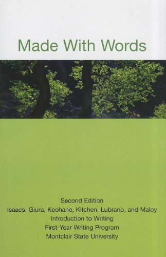 Made with Words: Introduction to Writing First-Year Writing Program Montclair State University (Bedford Select Readers)