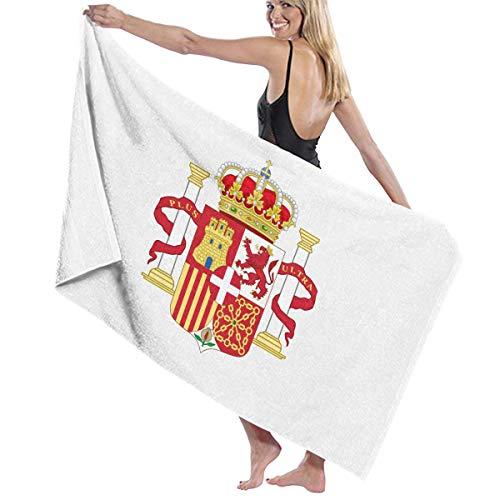 億運命的なむしゃむしゃビーチバスタオル バスタオル スペイン国旗の紋章 ビーチ用 海水浴 旅行用タオル 多用途 おしゃれ White