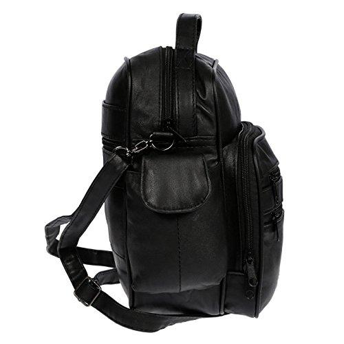 Bolso Negro 13 cm negro x x cm 26 cm hombre al Christian 20 Wippermann® para hombro 5BfnwYSH