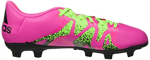 adidas X 15.4 Fxg, Botas de Fútbol para Hombre Rosa (Shock Pink/Solar Green/Core Black)