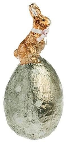 Boston International Foil Wrapped Egg and Bunny, Silver