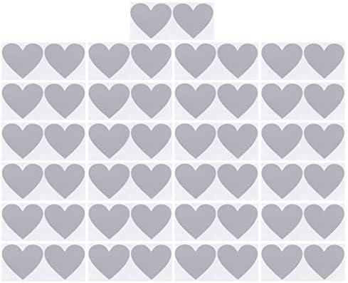 NUOBESTY 50ピースハート形スクラッチステッカーラベル結婚式バレンタインの日パーティー用品シルバー