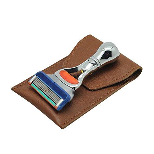 Men's Mini Handle Protable Travel Shaving Razor Wallet Razor Razor W/ Travel Case