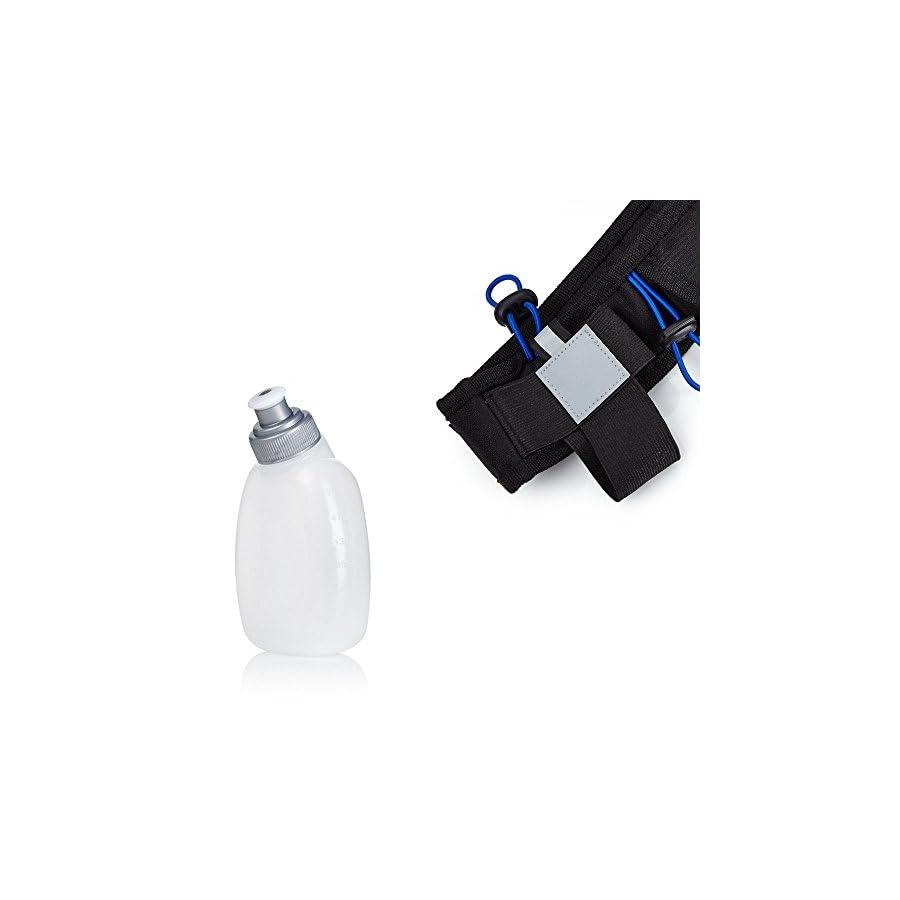 Running Belt For Phone, Running Fanny Pack, Black, 2 Bottle Pack by Camden Gear