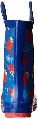 Sesame Street Boys' Kid's Character Licensed Rain Boot, Blue, Dual Shoe Size 7/8 Child US Toddler by Sesame Street (Image #2)
