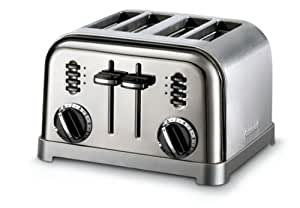 Cuisinart CPT-180BCH Metal Classic 4-Slice Toaster, Black Chrome