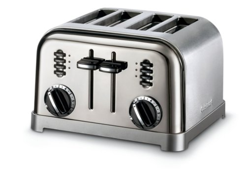 Cuisinart CPT-180BCH Metal Classic 4-Slice Toaster, Black Chrome by Cuisinart